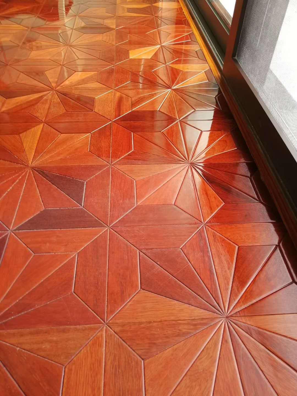 拼花地板打蜡划痕处理