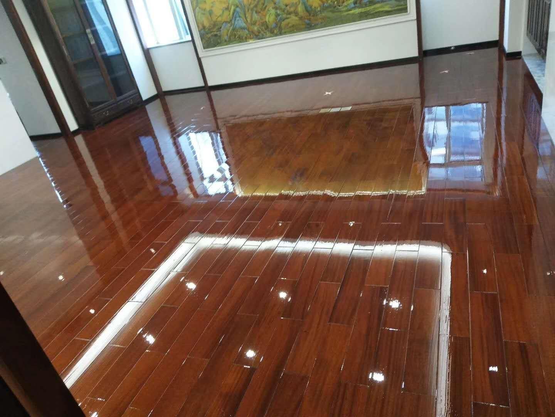 实木地板打蜡效果