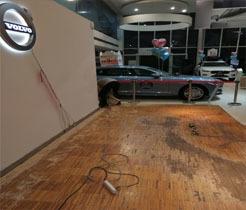 沃尔沃汽车4s旗舰店商铺地板打磨翻新